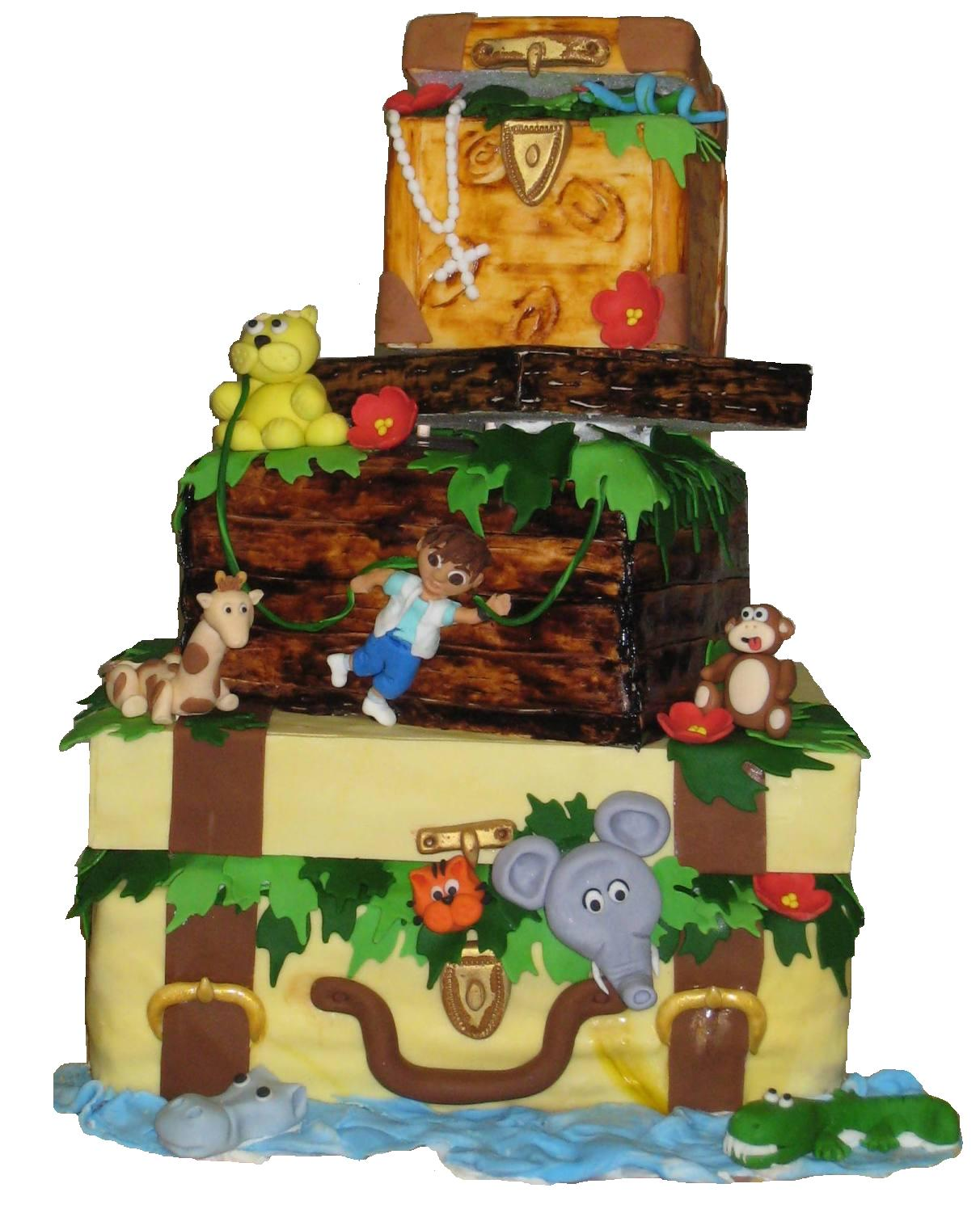 Cheap Jungle Cakes Designs Ideas